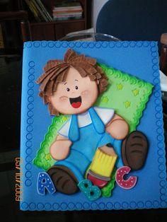 Resultado de imagen para niños en foami para carpetas