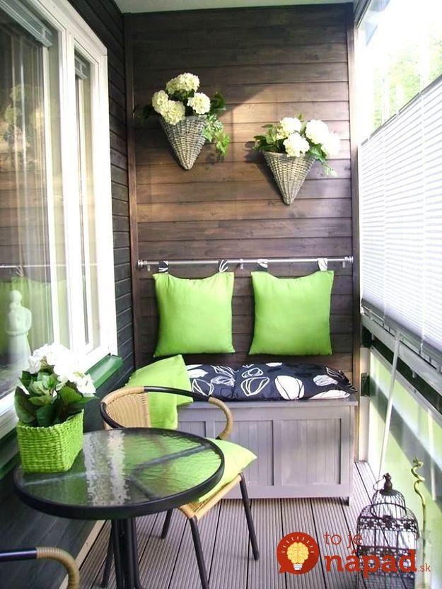 Krásne nápady, ako premeniť aj malé balkóny na súkromné oázy pokoja a nerušeného relaxu. Neváhajte sa inšpirovať!