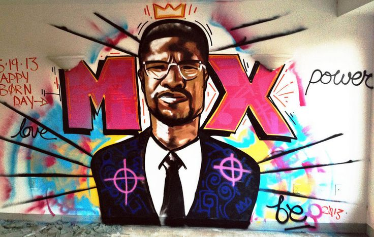 264 best images about activists on pinterest for Malcolm x mural