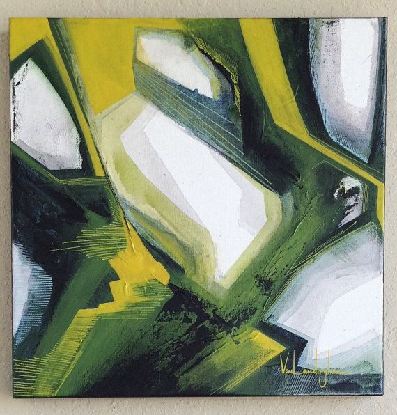 Original Abstract Acrylic Painting 16 x 16 by MAVworks on Etsy