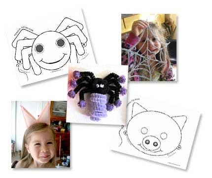 Charlotte's Web activities & lesson plan - including two vocabulary worksheets, 6 pig and spider crafts, plus classroom activity and discussion ideas.