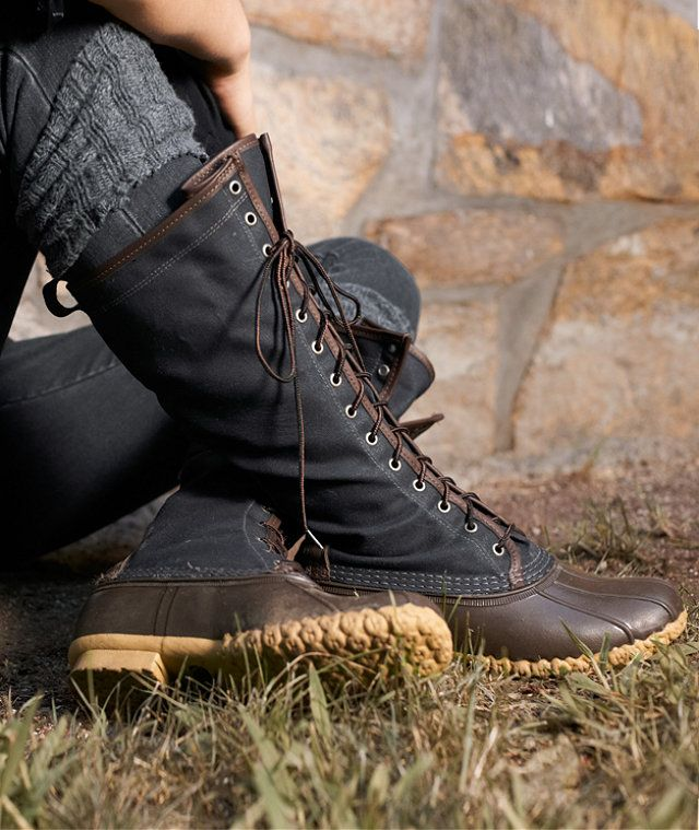 """16"""" Waxed Canvas Maine Hunting Shoe: FOOTWEAR 