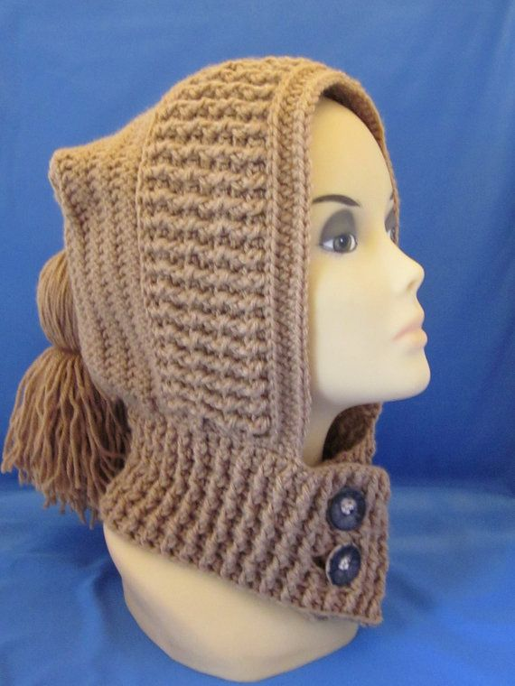 Free Knitting Pattern Hooded Neck Warmer : 467 best images about Hat on Pinterest Free pattern ...