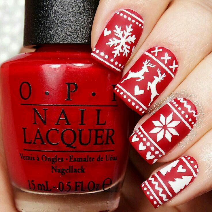 57 best Christmas Sweater Nail Art images on Pinterest | Christmas ...