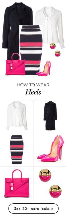 """""""outfit 4001"""" by natalyag on Polyvore featuring Theory, Glamorous, Oasis, Christian Louboutin, Yves Saint Laurent and Trina Turk"""