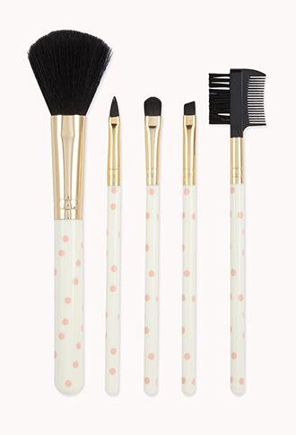 Polka Dot Cosmetic Brush Set | FOREVER 21 - 1000076034