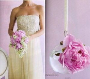 Antique peony wedding bouquets New York - The Wedding Specialists