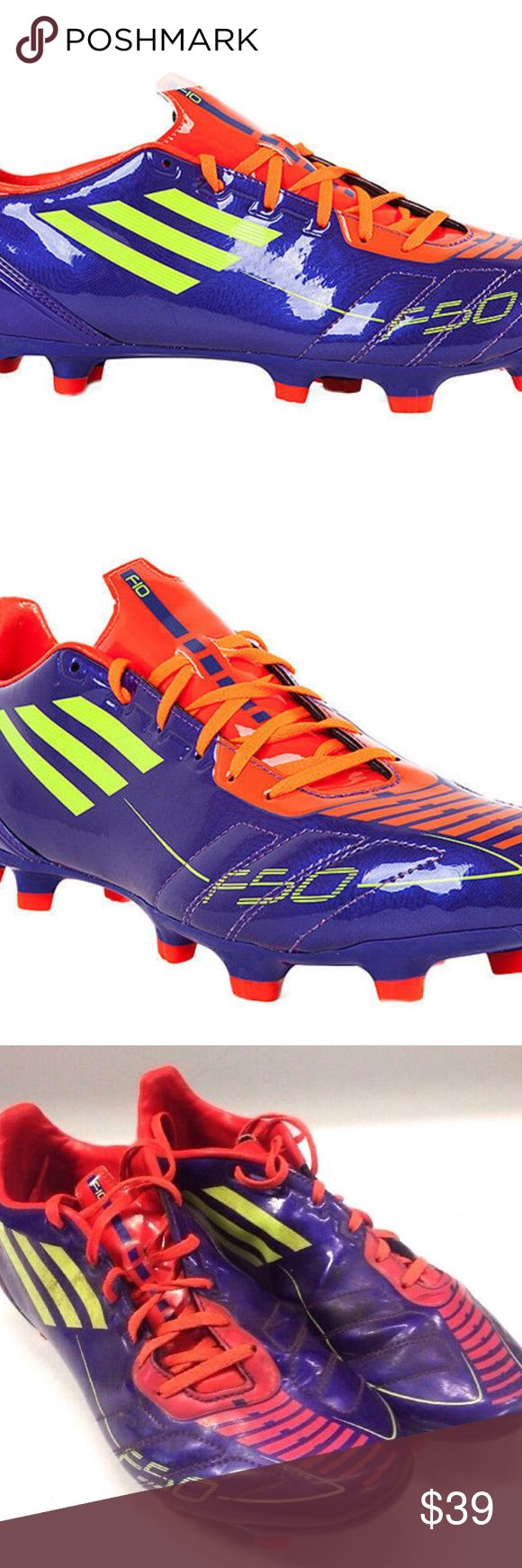 Adidas F10 TRX FG 2011 Soccer cleats G40256 Shoes Purple / Electricity / Infrared  # G40256  Mens size 9 US  Good used condition. There is a little dirt on the shoes. Nothing major. See pictures for details adidas Shoes Athletic Shoes