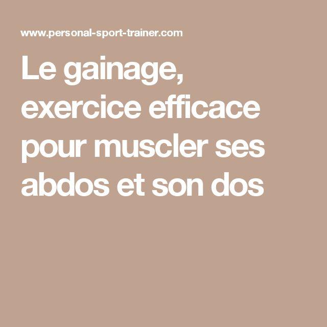 Le gainage, exercice efficace pour muscler ses abdos et son dos
