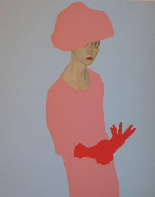 """""""Madreducata"""" 2009 olio e smalto su tela (80x100) Francesco Merletti (Brescia 1966)"""