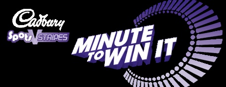 Minute to win it logo  also check out the NBC website   we are so doing this as our xmas party this year!!!