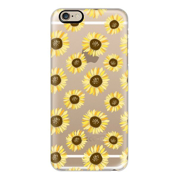 iPhone 6 Plus/6/5/5s/5c Case - Sunflowers - Transparent (2.270 RUB) ❤ liked on Polyvore