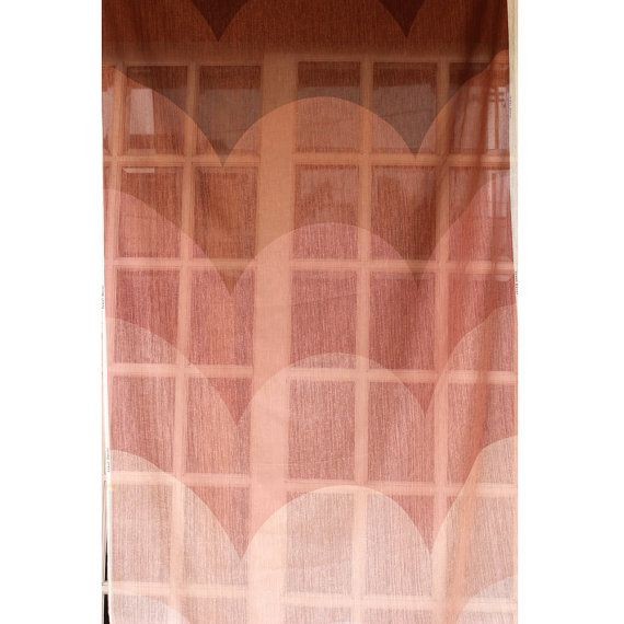 Ombre Curtain  Shades of Brown Waves 26x84 Sheer Rod by FabricMart