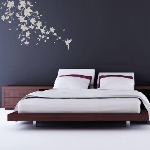 20coole ideen wandaufkleber design schlafzimmer kolibri