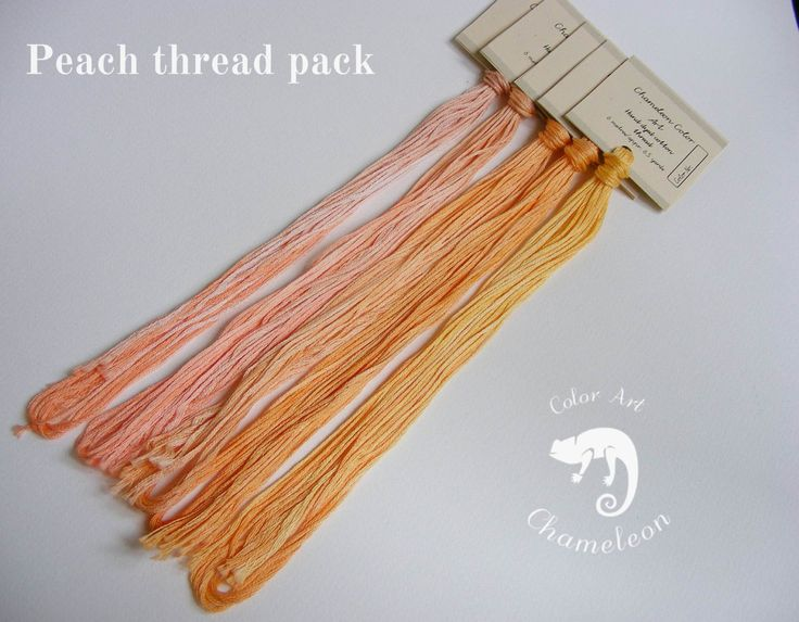 5 PCS Pure Cotton THREAD PACK Peach - 6 metres/6.5 yards each by ChameleonColorArt on Etsy