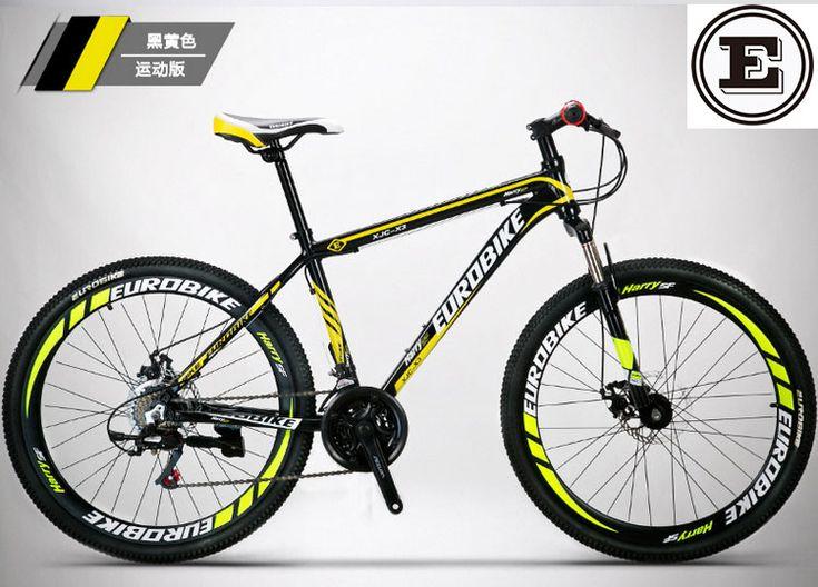 EUROBIKE 21 e 27 velocidade da bicicleta 26*17 polegadas de freio a disco MTB frame da liga de mountain bike 26 polegada não bicicleta bicicleta dobrável de 160-185 CM