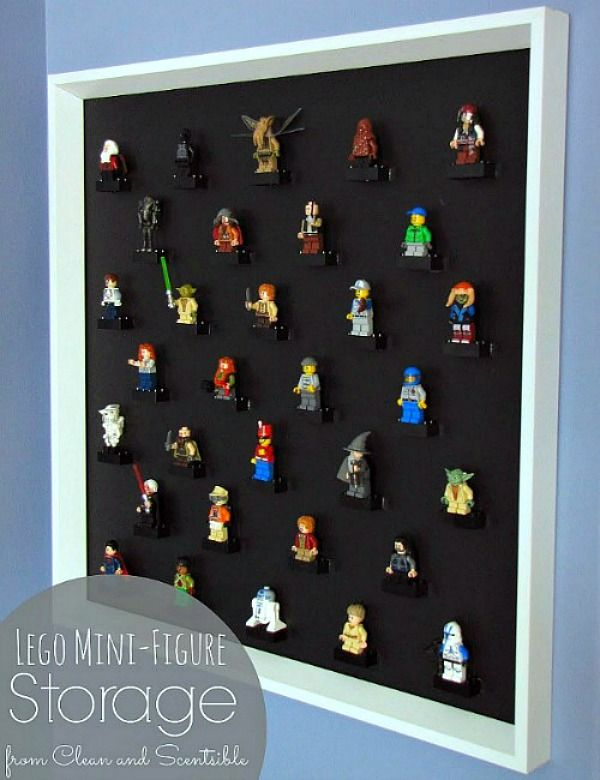 Lego Mini-Figure Storage - What a great way to organize all of those little men! And it looks great too! // cleanandscentsible.com