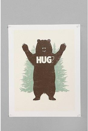 plakat #. - Matthew J. Parsons For Society6 Bear Hug? Print