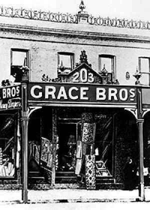The original Grace Bros Store at 203 George St West,Sydney (year unknown).