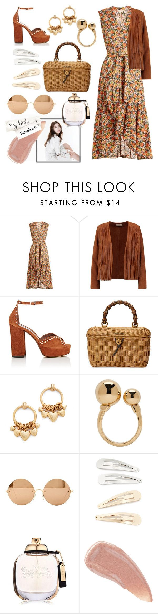 """""""My little sunshine"""" by eversmile ❤ liked on Polyvore featuring Rebecca Taylor, Sandro, Tabitha Simmons, Gucci, Elizabeth Cole, Chloé, Shin Choi, Victoria Beckham, Kitsch and Coach"""
