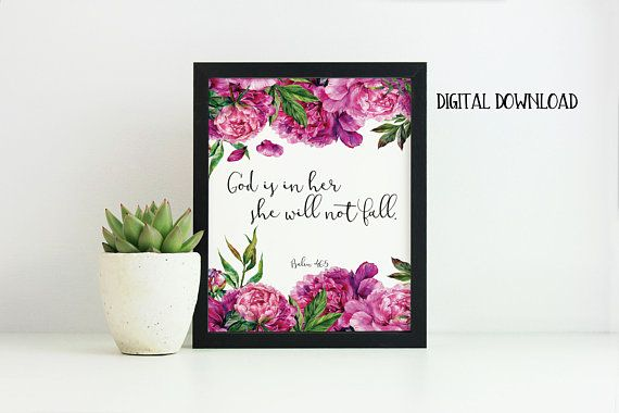 Psalm 46:5 God is in Her She Will Not Fall Bible Printable