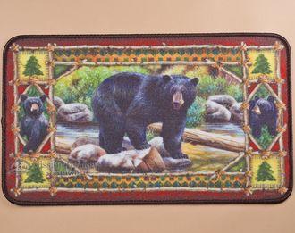 """Southwestern Door Mat 18""""""""x30"""""""" -Bear (dm18)"""