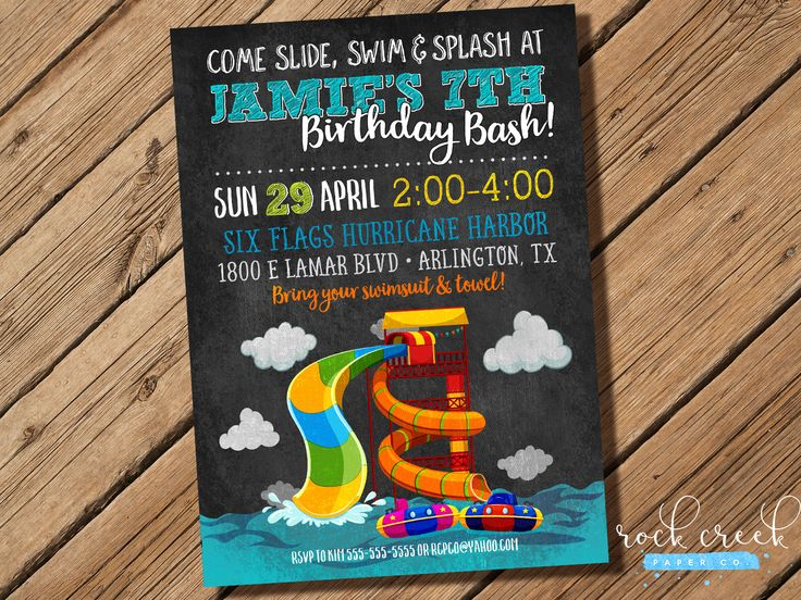 The 25 best Splash pools ideas – Water Park Party Invitations