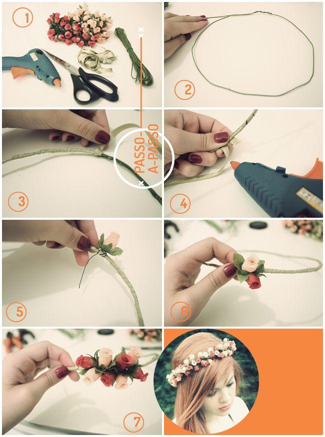 Aprenda a fazer a sua própria coroa de flores