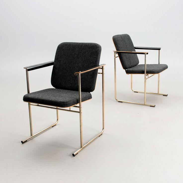 Set of four open armchairs model 'Skaala' designed by Finnish architect Yrjö Kukkapuro for Avarte. ...