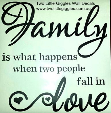 Family is what happensRemovable wall decalMeasurements: 60cm x 80cmWhat to expect: