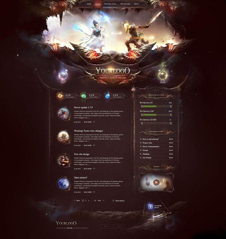 23 best Fantasy Website Design images on Pinterest | Design websites ...