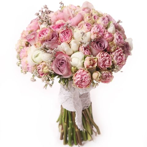 Joyful Delight Bridal Bouquet - Joyful Delight Bridal Bouquet > View Full-Size... | White, Product, Pink, Bouquet, Joyful | Bun
