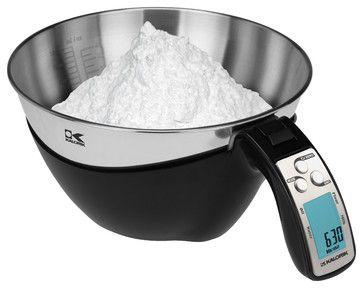 Kalorik Black iSense Food Scale - modern - small kitchen appliances - Kalorik