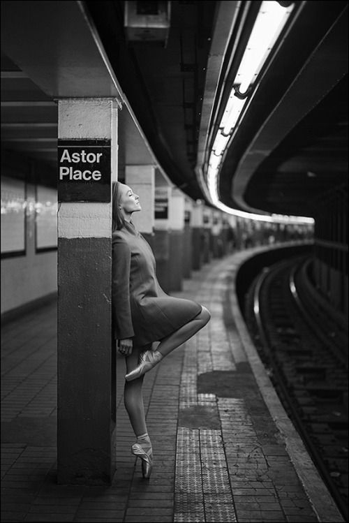 ballerinaproject:  Brooke - Astor Place, New York City Follow the Ballerina Project on Facebook, Instagram, YouTube, Twitter & Pinterest For information on purchasing Ballerina Project limited edition prints.   Purchase this or other images from the Ballerina Project as a limited edition print. Makes a perfect holiday gift.