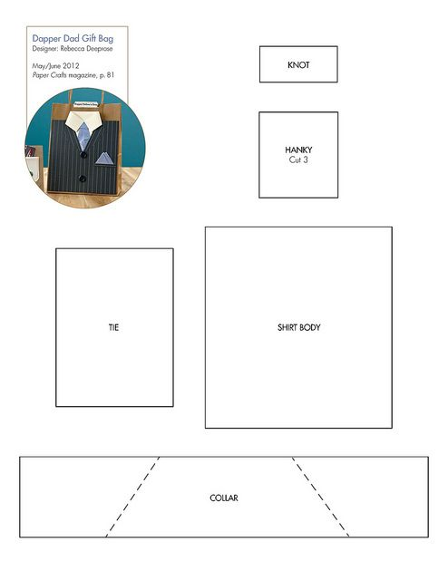 Free Suit & Tie Pattern #downloadable