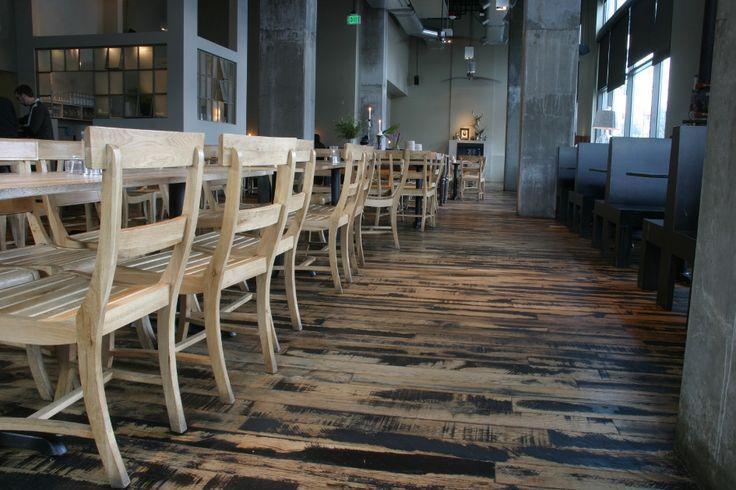 104 best reclaimed restaurant images on pinterest for Reclaimed wood flooring seattle