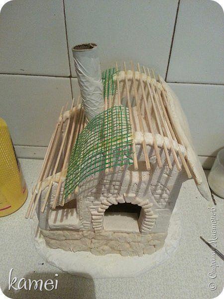 Мастер-класс Поделка изделие Лепка мой сказочный домик Гипс Краска Тесто соленое фото 13