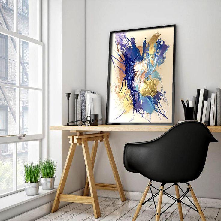 "Abstract art painting, original Wall decor ""fly"" - Peinture abstraite ""l'envol"" de la boutique VanessaPeka sur Etsy"