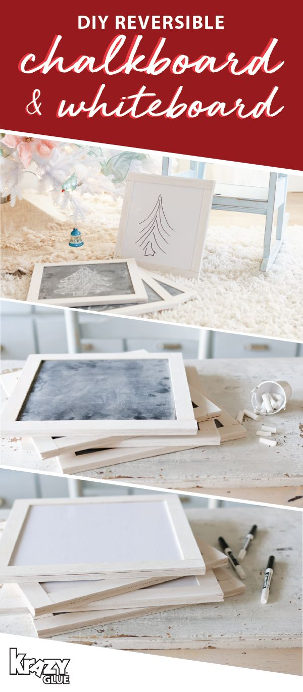 For a craft project that's as versatile as the main supplies needed to make it—Krazy Glue—check out this DIY ​Reversible​ ​Chalkboard​ ​&​ ​Whiteboard​! From holiday to-do lists to festive drawings, these useful, rustic decorations are sure to be a favorite amongst your family. And to stock up on the essentials you'll need, head over to Michaels!
