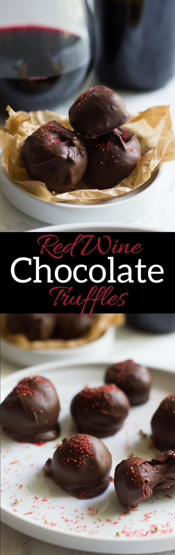 Red Wine Chocolate Truffles are the perfect elegant end to an evening. They are sweet and fruity with a complex red wine flavor.