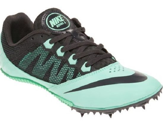 New NIKE Zoom Rival S7 Womens Track Running Spike Shoes Green Black Size 8