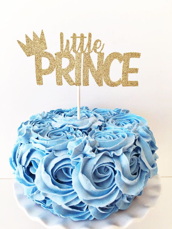 Little Prince Cake Topper / Little Prince Birthday Party / Little Prince Baby Shower / Baby Sprinkle / Sip and See / Custom Cake Topper