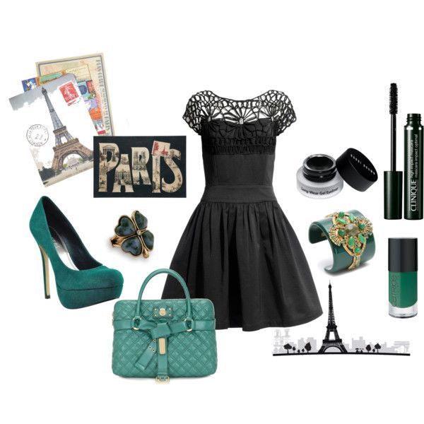Pretty dress and gorgeous teal accessories