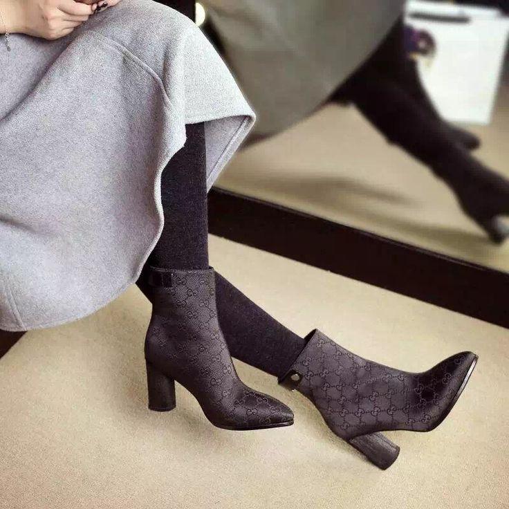 Плюс Size34 41 Горячие Продажи Печати Кожаные Сексуальные Ботинки Женщин Европейский Стиль Лодыжки Толстые Высокие Каблуки сапоги Пряжки Молнии botas mujer купить на AliExpress