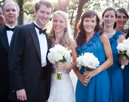 Lela Rose blue bridesmaid dresses