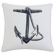 Anchor Nautical Throw Pillow (18x18) - Seedlings by ThomasPaul®