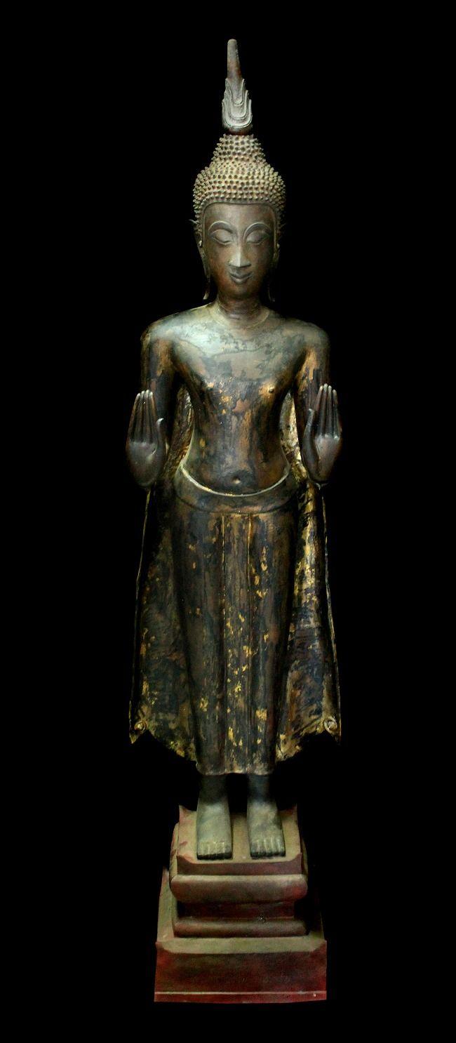EARLY 18C BRONZE THAI AYUTTAYA BUDDHA