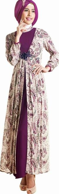Looks batik long dress