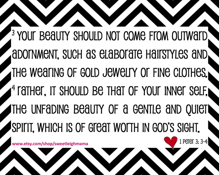 True beauty bible verse