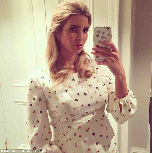 Getting dressed up: Ivanka Trump uploaded a photo of herself in an Oscar de la Renta dress after attending the New York Fashion Week show